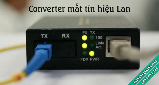 Converter quang điện mất tín hiệu Lan